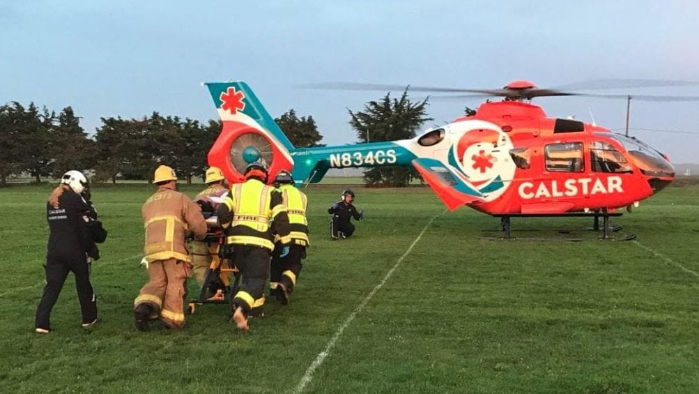 One person was airlifted to Santa Barbara Cottage Hospital. Photo Courtesy Santa Barbara County Fire Department.