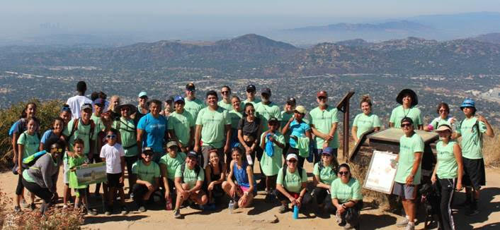 Circle V Ranch Camp alumni and staff as well as family and friends during the 2018 Hike4Kids Benefit at Echo Mountain in Altadena. (Courtesy photo)