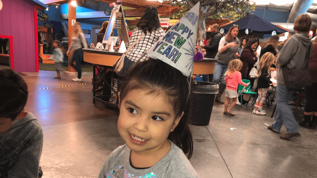 Children enjoying Noon Year's Eve celebrations at the Santa Maria Valley Discovery Museum. (KSBY photo)