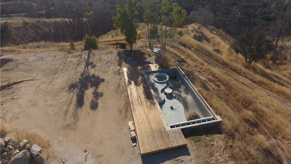 An empty pool on Santa Margarita property now up for sale by actor Johnny Galecki. (Photo: Central Coast Realty Group)