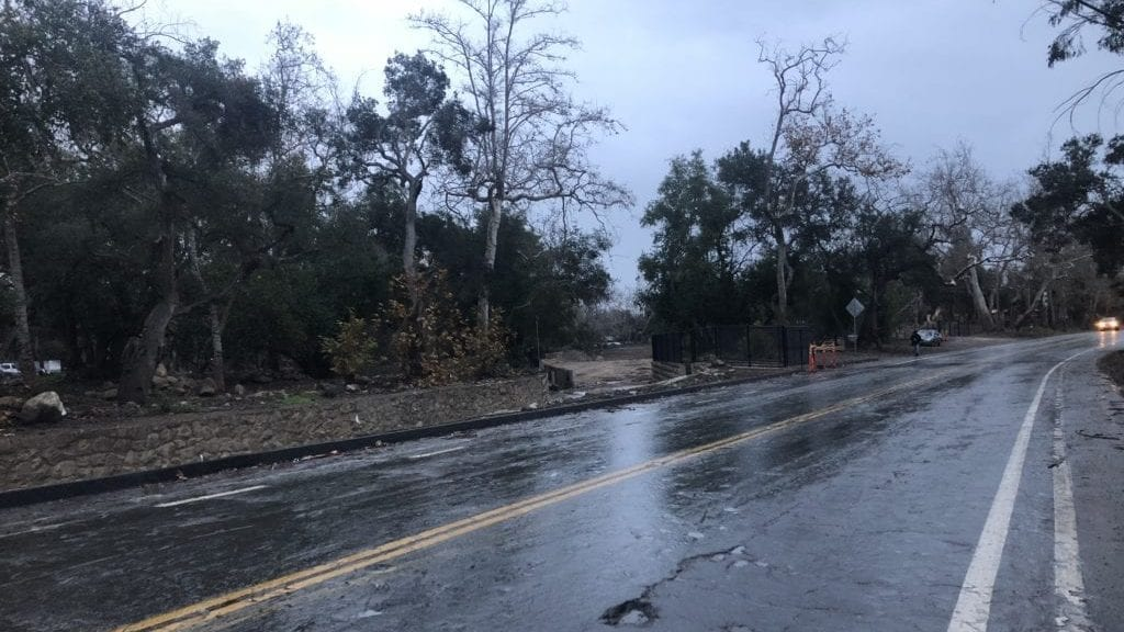 Montecito as the sun came up Tuesday morning. (KSBY photo)