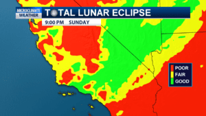 Clouds coverage could block the view of the Super Blood Wolf Moon for many people on the central coast when it enters a total lunar eclipse.