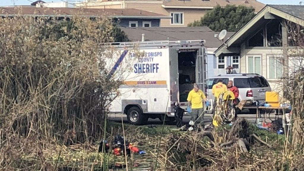 The SLO Co. Sheriff's dive team in Oceano Monday morning. (KSBY photo)