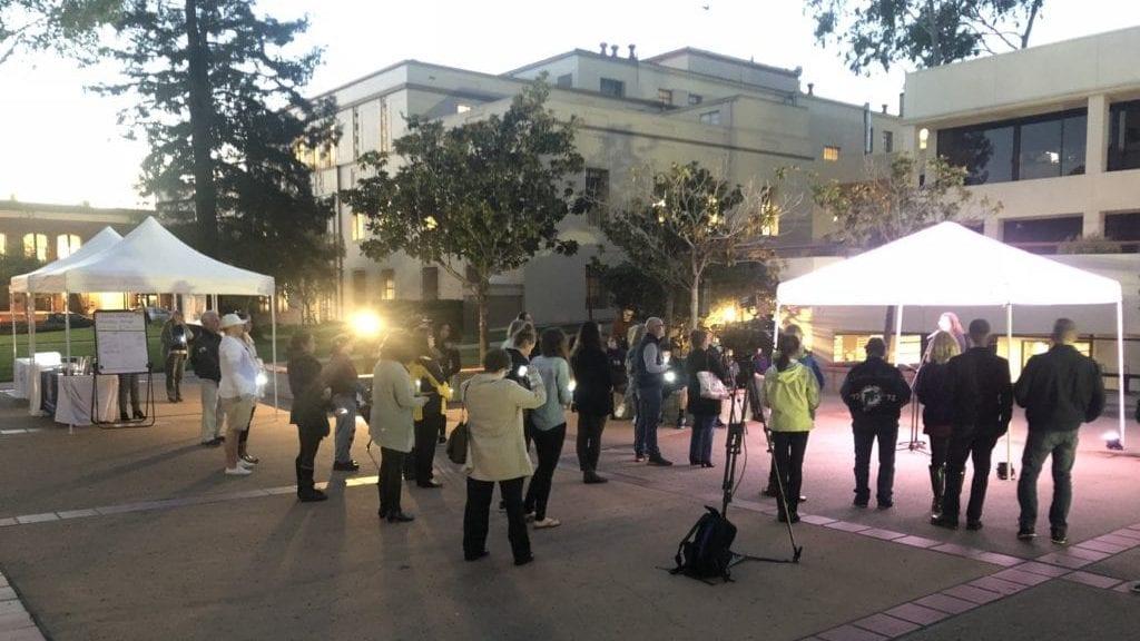 Human trafficking vigil