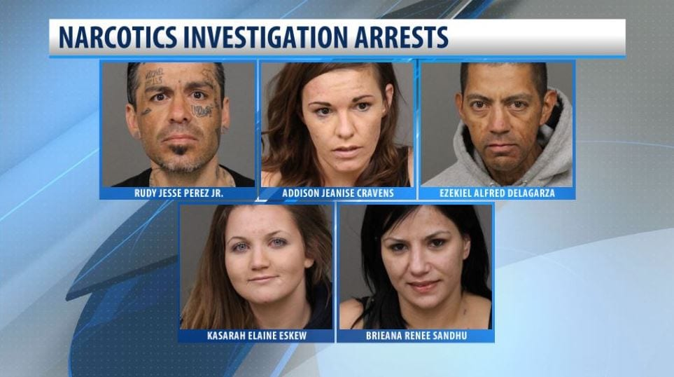 Five taken into custody after Oceano narcotics investigation