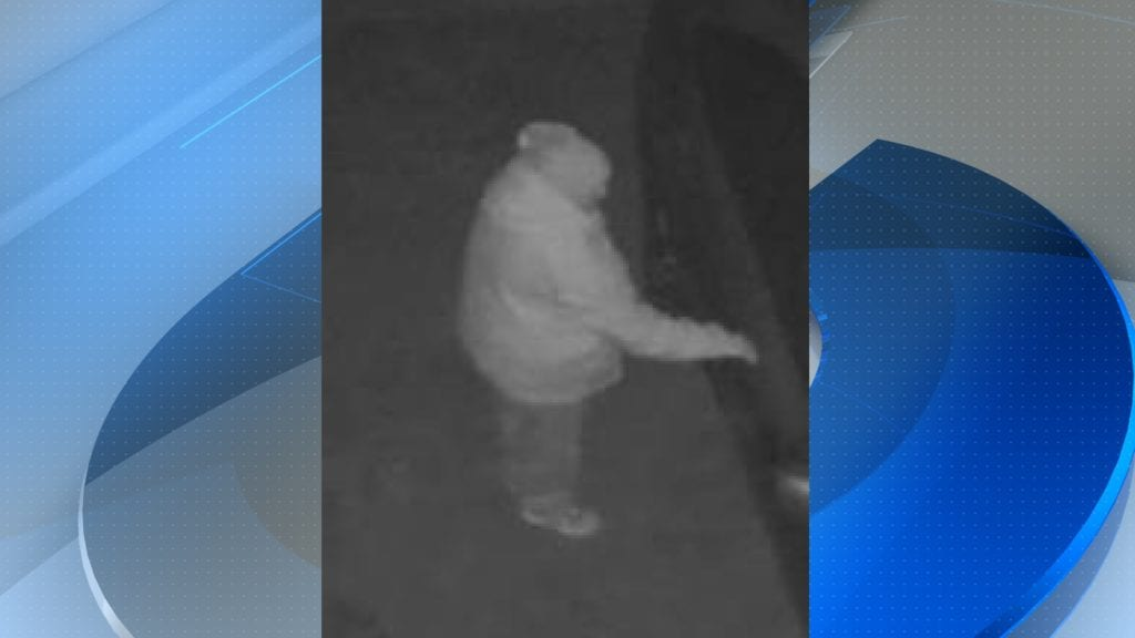 A prowler caught on camera Feb. 11 in the Vandenberg Village area.