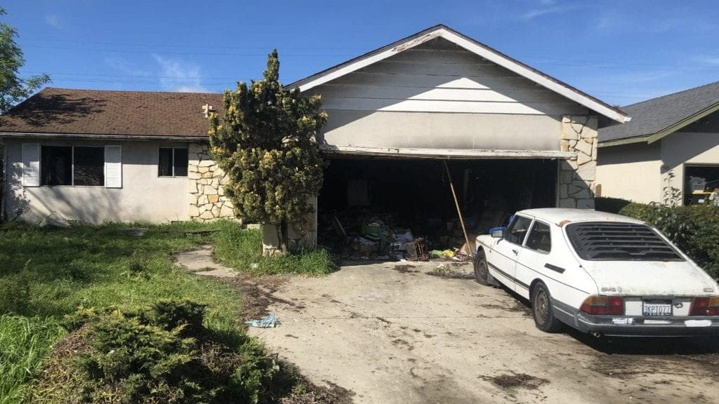 Fire damaged a home in Lompoc Thursday. (KSBY photo)