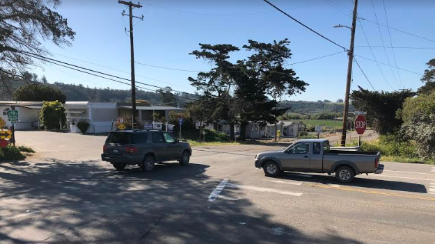The intersection where two more stop signs will be installed in Arroyo Grande. (KSBY photo)