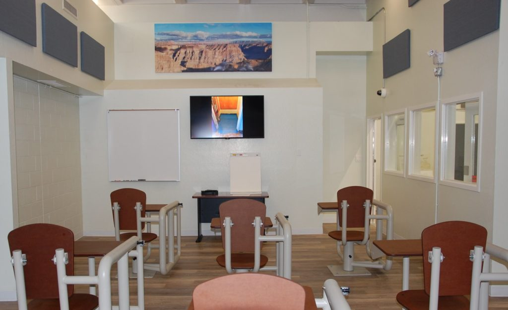A portion of the new behavioral health unit at the SLO Co. Jail. (Courtesy photo)