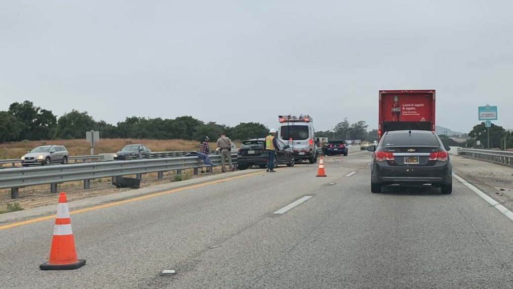 Traffic moving slowly through the area shortly after the crash. Courtesy photo