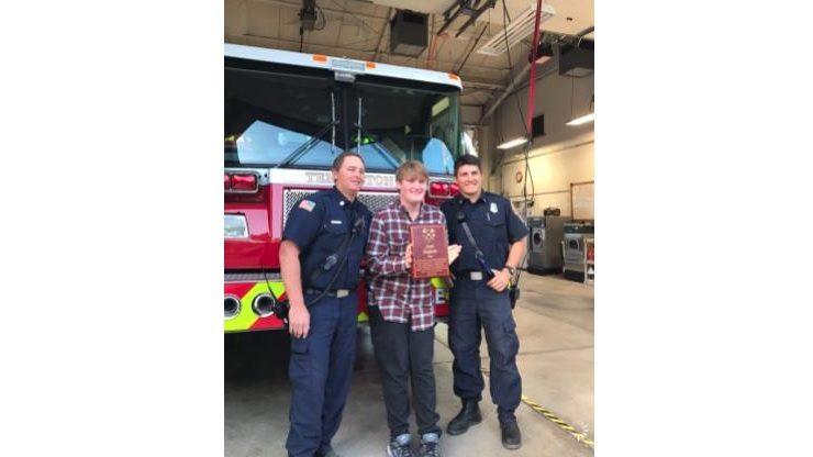Captain Brandon Wall, Josh Englant and firefighter Nick Ducasse. (Courtesy photo)