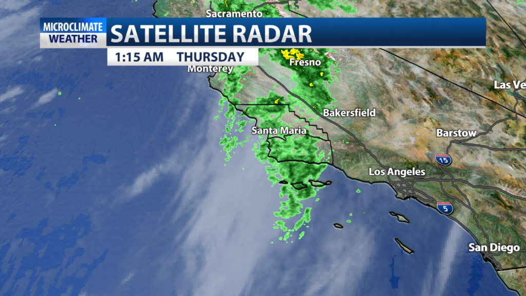 Continued scattered rain activity expected through the