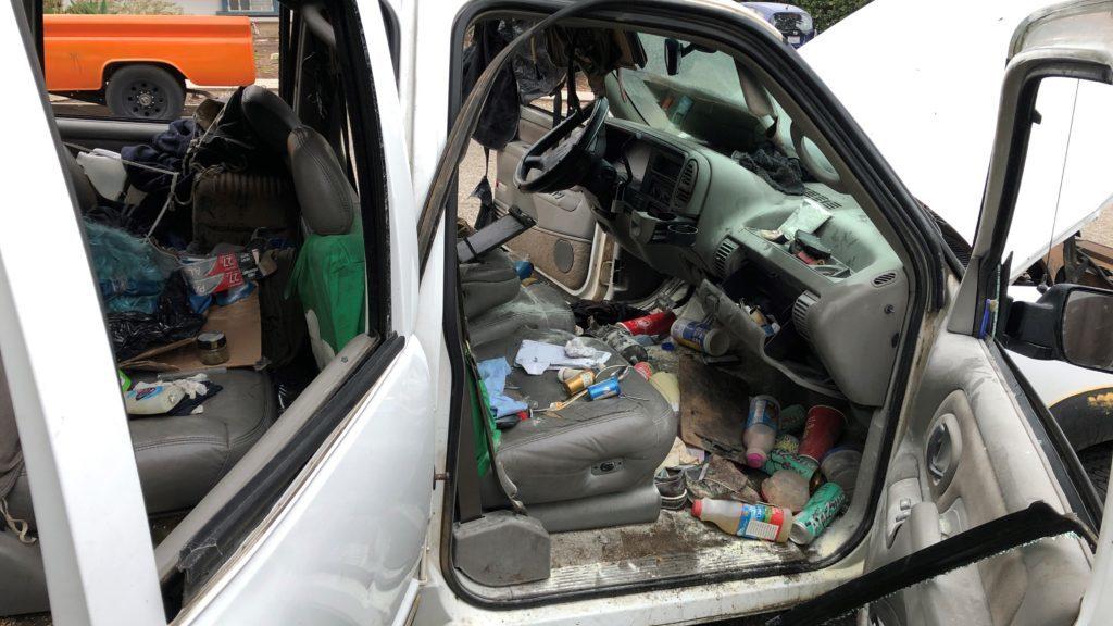 Suspected Butane Honey Oil lab explosion damages vehicle