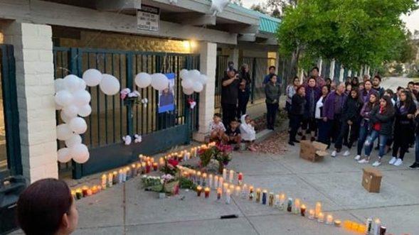 Memorial at Laguna Middle School for Andrea Blanco. Courtesy: Silvia Ramirez