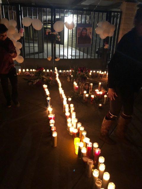 Vigil for Andrea Blanco at Laguna Middle School. Courtesy: Cathy Ahearn