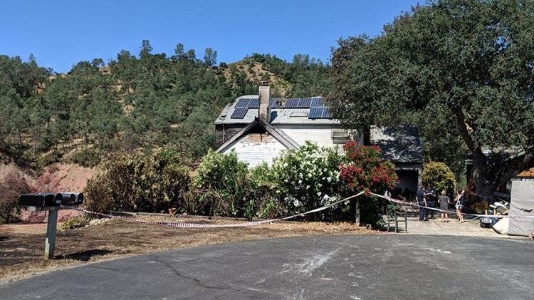 The cul-de-sac where a fire broke out at a Heritage Ranch home Monday afternoon.