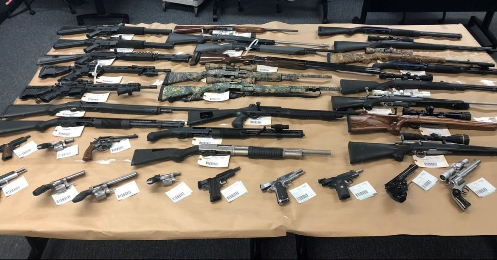 Guns and ammunitions found at Richard Orcutt's home, police say. (SLOPD photo)